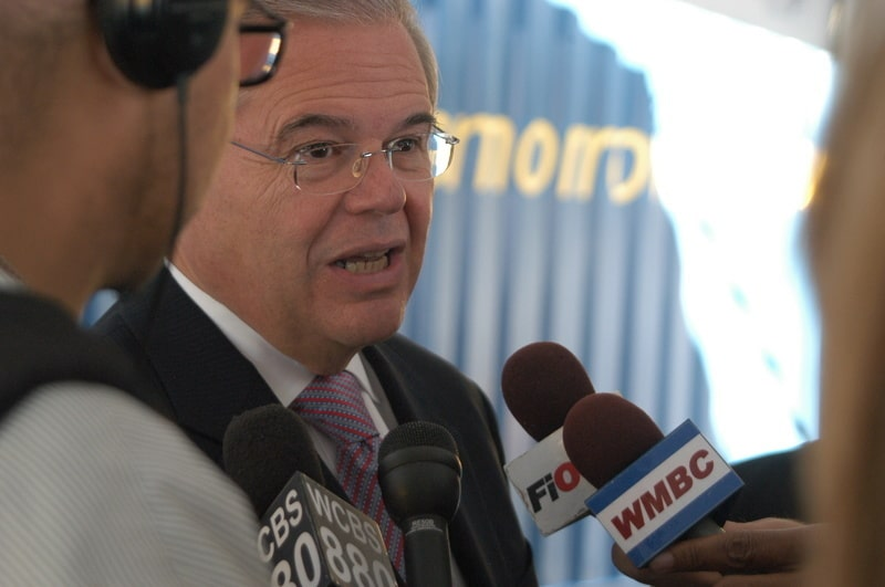 New Jersey Democratic Sen. Bob Menendez